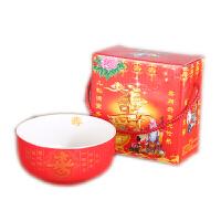 景德镇t陶瓷寿碗订制 答谢礼盒定制烧字 百岁寿 碗勺礼盒祝寿套装