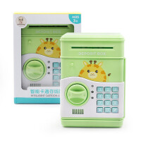 儿童创意自动卷钱ATM卡通动物保险柜存钱罐储蓄罐习惯养成玩具压岁钱红包保管