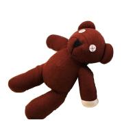 憨豆先生熊 憨豆先生的泰迪熊毛绒玩具熊创意可爱生日礼物毛绒公仔 如图