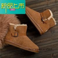 新品上市羊皮毛一体男士雪地靴保暖防滑牛筋底羊毛棉鞋真皮男款马丁靴大码