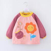 宝宝罩衣灯芯绒长袖男婴儿吃饭衣防水女孩儿童反穿衣秋冬加厚