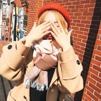 围巾女冬季韩版百搭英伦格子长款加厚围脖学生冬季小清新