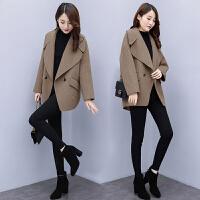 安妮纯小个子毛呢外套女韩版时尚小西装2020秋冬新款短款廓形呢子大衣女