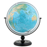 30cm中英文地形地球仪(万向支架),北京博目地图制品有限公司 著,中国地图出版社【正版保证 放心购】