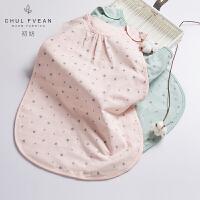 CHULFVEAN初纺 婴幼童浴袍 无袖睡袋3层纱布 背心式宝宝睡袋被