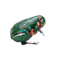 怀旧玩具发条弹跳铁皮小青蛙经典地摊玩具儿童宝宝玩具c 绿色
