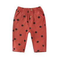男童七分裤1-3岁男夏装儿童休闲裤婴儿宝宝夏季裤子