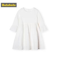 巴拉巴拉童装女童裙子春季2019新款小童宝宝白色蕾丝裙儿童连衣裙