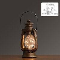 美式复古工业风创意小夜灯摆件酒柜咖啡厅客厅小台灯装饰品小摆设抖音