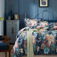 磨毛四件套欧饰美提花印花床品套件被套床单1.5m/1.8米Q
