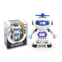 太空跳舞电动机器人 360度旋转灯光音乐玩具