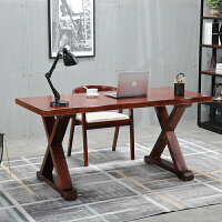 全实木办公桌电脑台式桌简约现代书桌设计桌家用原木工作台写字桌 200*80*75 厚度8cm