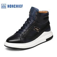 红蜻蜓旗下品牌 HONCHIEF 男鞋休闲鞋秋冬鞋子男板鞋KZA1257