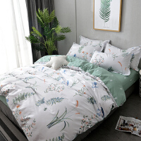 床上四件套棉女ins风1.8m床1.5米双人床单被套单人床三件套k