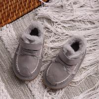 儿童棉鞋 男女童真皮棉鞋2020冬季新款韩版加绒鞋子男女童中小童保暖防滑休闲短靴