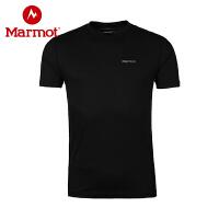Marmot/土拨鼠春夏新款户外透气速干吸汗快干男式短袖T恤