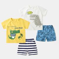 童装男童休闲套装短袖夏装两件套装