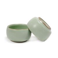 (PU RUN) 陶瓷故事 汝窑陶瓷功夫茶具 鼓形杯 哑光天青釉 开片鼓型杯 单个价