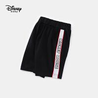【119元4件】迪士尼宝宝男童短裤快乐星球针织微哈夏季新品