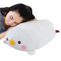��w暖手抱枕布娃娃女可�壅眍^手捂毛�q玩具女生抱著睡�X的公仔 �u