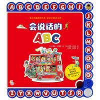 会说话的ABC 小手指发声书精装绘本故事书 儿童早教会发声音0-3-6岁宝宝语音点读认知绘本 幼儿思维益智玩具书语言启