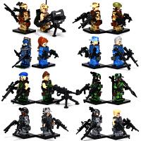 博乐军事幻影忍者人仔武器拼装积木儿童玩具6-8-10岁男孩