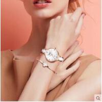 手表女简约气质潮流百搭白色陶瓷女士手表新款正品防水石英表