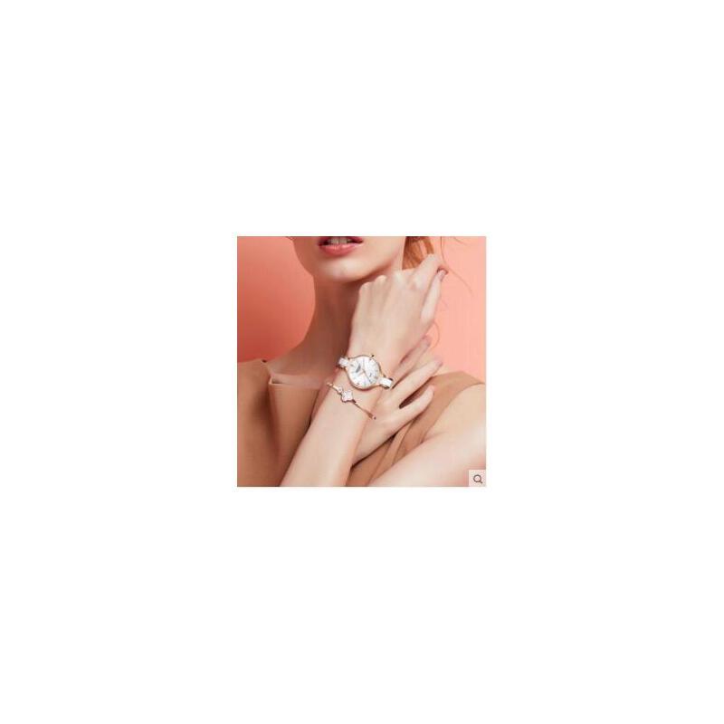 手表女简约气质潮流百搭白色陶瓷女士手表新款正品防水石英表 品质保证 售后无忧