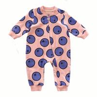 男婴儿连体衣服春秋长袖哈衣时尚双向拉链外出爬服女宝宝外套