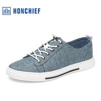 红蜻蜓旗下品牌HONCHIE 春秋新款时尚透气布鞋潮流男士休闲鞋