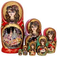 俄罗斯特产套娃七层哈尔滨旅游创意纪念礼物家居摆件工艺礼品