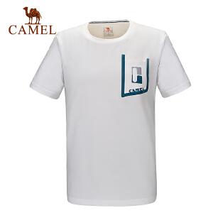 camel骆驼户外男款速干短袖T恤 春夏休闲圆领快干衣