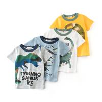 男童短袖恐龙图案小孩衣服童装夏季儿童半袖男宝宝t恤衫