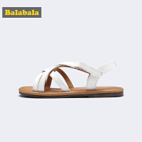巴拉巴拉小童凉鞋女童鞋中大童鞋子新款夏季仙女风韩版平跟鞋