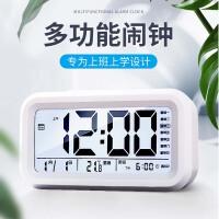 电子表台式闹钟创意个性懒人学生用小夜光数字简约静音床头钟儿童