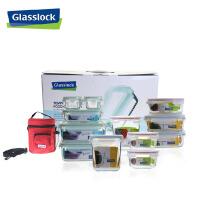三光云彩glasslock韩国进口玻璃保鲜盒/饭盒礼品套装十二件套/GL80