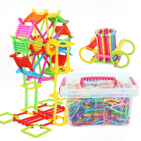 小孩子玩具 �明棒�e木塑料拼插�b幼��@男女孩1-2�����和�玩具3-6周�q