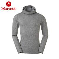 Marmot/土拨鼠秋冬新款户外透气吸湿速干男连帽卫衣