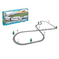 仿真高铁动车轨道车模型电动火车和谐号头列车儿童玩具 多弯道轨道+4车厢【43件套】 2183