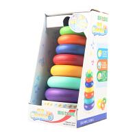 叠叠乐彩虹塔套圈玩具叠叠圈叠叠高婴儿玩具6-12个月早教