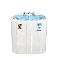 小鸭XPB20-2188S 迷你洗衣机洗脱两用双桶双缸半自动小型带甩干