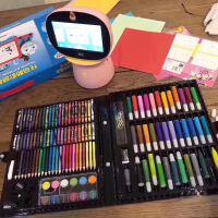 微商同款150件儿童画笔套装水彩笔美术用品绘画工具箱小画笔礼盒