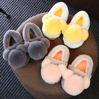 宝宝棉拖鞋1-3岁男冬季包跟室内保暖防滑儿童亲子棉鞋女