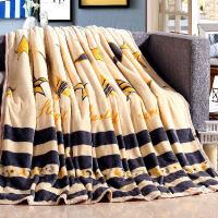 珊瑚绒毯空调毯法兰绒毛毯加厚毯子单人双人床单盖毯休闲毯