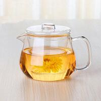 三件式玻璃茶具 耐�岵AП�花茶泡茶杯 ���w�饶�茶具玻璃杯500ml下午茶茶�丶矣�