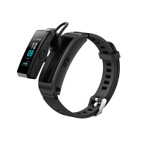 【支持当当礼卡】华为手环B5 (蓝牙耳机+智能手环+心率监测+彩屏+触控+压力监测+Android+IOS通用+运动手