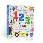 英文原版进口 Dotty and Dash ' s 123 A pop-up counting book 数字立体书