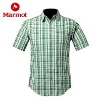 Marmot/土拨鼠男士衬衣夏季轻薄款防晒速干排汗短袖衬衫_A61940