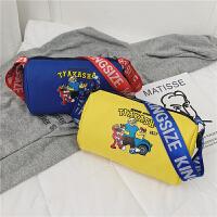 儿童包包男童帅气街头小挎包卡通可爱女童单肩包 搭配造型斜挎包
