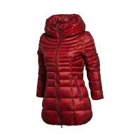 乐途中长款轻质羽绒服女士运动生活系列保暖冬季90%白鸭绒运动服EYMK004